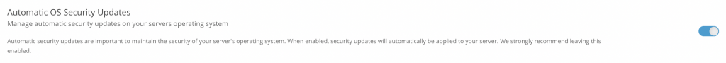Automatic OS website security updates